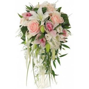 Букет невесты с оридеей