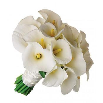 Букет невесты из белых калл