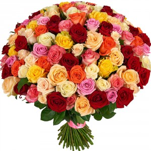 Роскошный микс 101 роза