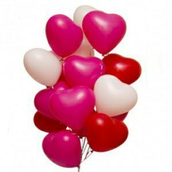 Гелиевые шары в форме сердца